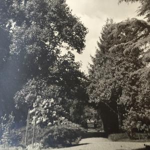 Entrée du jardin de la maison de famille des Bourgeois