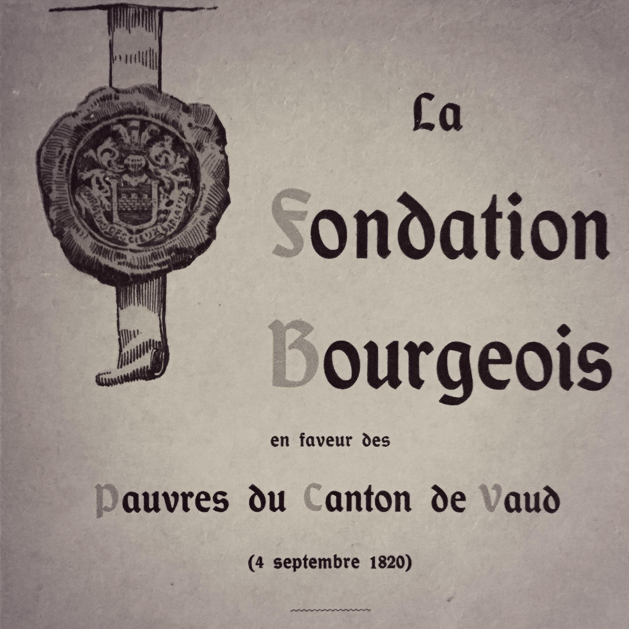 La Fondation Bourgeois, notice historique, analytique et juridique par Edouard Bourgeois, Lausanne 1913.